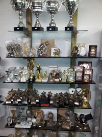 G Thomas Newton Abbot - Trophie Display